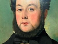 Lovely 19th Century Victorian Antique Half-Length Oil Portrait Painting of a Smart Chap (7 of 12)