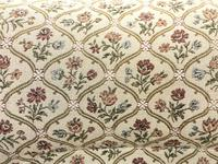 Victorian Three Piece Suite with Gold Floral Upholstery (5 of 26)