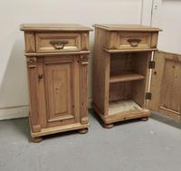 Pair of  Chunky Carved Pine Bedside Cupboards (5 of 6)