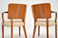 Pair of Vintage Art Deco Walnut Armchairs (9 of 9)