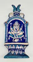 Vintage Bombay Porcelain Vase Featuring Hindu God Ganesh Standing on a Mouse (8 of 8)
