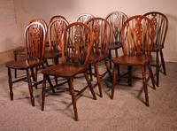 Set of 10 Windsor Wheelback Chairs 19th Century -  England (5 of 11)