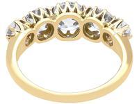 3.29ct Diamond & 18ct Yellow Gold Five Stone Ring c.1925 (5 of 9)