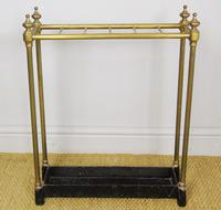 Late Victorian Brass & Cast Iron Stick Stand (2 of 6)