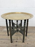 Early 20th Century Middle Eastern Brass Tray Top Folding Table (8 of 8)