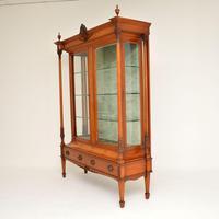 Antique Victorian  Satinwood  Display Cabinet (3 of 13)