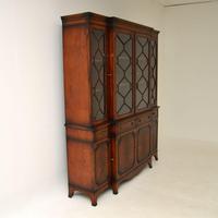 Antique Mahogany Breakfront  Bookcase (4 of 12)