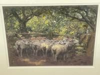 "Edwardian Pastel Painting ""The Sheepfold"" By John Robert Keitley Duff RI RA Rse (5 of 34)"