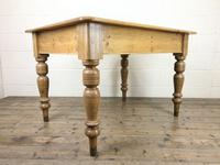 Antique Pine Kitchen Table (6 of 7)