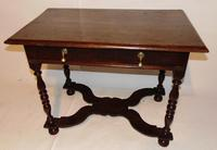 William & Mary Oak Side Table (2 of 9)