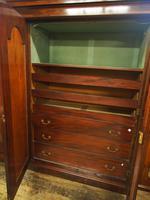 Victorian Mahogany 3 Door Wardrobe (8 of 8)