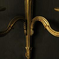 French Pair of Gilded Brass Antique Wall Lights (7 of 8)