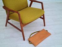 Alf Svensson, 60s, Armchair Model Kontur, Completely Restored, Furniture Wool (16 of 16)