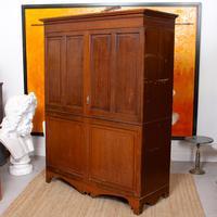 Oak Wardrobe Arts & Crafts Victorian 19th Century (6 of 9)