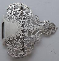 Large Victorian 1899 Hallmarked Solid Silver Nurses Belt Buckle Joseph Rogers (8 of 9)