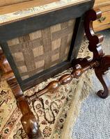 Victorian Mahogany X-Frame Stool (3 of 15)