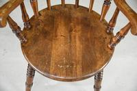 Antique Beech Spindle Back Penny Carver Chair (4 of 11)