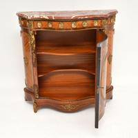 Antique French Inlaid Marquetry  Marble Top Cabinet (8 of 12)