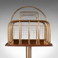 Antique Newspaper Rack, French, Oak, Magazine, Music Stand, Victorian c.1900 (8 of 11)