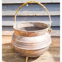 Copper & Brass Coal Bucket / Cauldron (2 of 4)