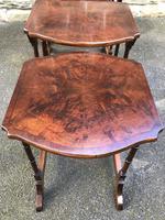 Antique Burr Walnut Nest of 4 Tables (4 of 8)