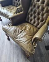 Pair of Leather Wing Chairs (4 of 10)
