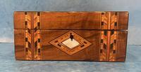 Victorian Walnut & Tunbridge Ware Jewellery Box (4 of 11)
