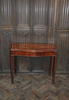 Chippendale Serpentine Mahogany Card Table (3 of 10)