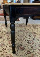 Antique Victorian Pine Farmhouse Table with Drawer (11 of 16)