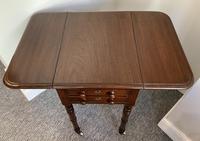 Victorian Mahogany Drop Flap Work Table (3 of 18)