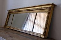 Gilt Framed Three Section Overmantle Mirror (7 of 19)