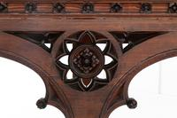 19th Century Victorian Gothic Pine Console Table (2 of 9)