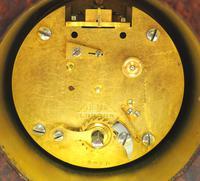 Impressive Amboyna Burr Walnut Edwardian Timepiece Mantel Clock by Dent London (8 of 10)