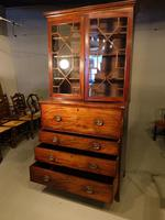 Good George III Period Mahogany Secretaire Bookcase (6 of 7)