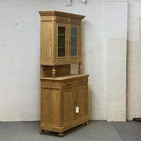 Very Tall Antique Pine Partly Glazed Dresser (4 of 8)