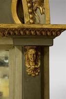 Decorative Gustavian Swedish Pier Mirror 19thc (5 of 5)
