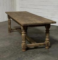 Nice Large Bleached Oak Farmhouse Dining Table With Extensions (21 of 35)