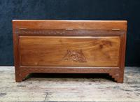 Early 20th Century Oriental Carved Teak and Camphor Wood Chest (4 of 12)
