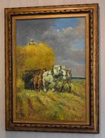 Oil Painting of Working Horses & Farmers (2 of 8)