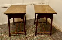 Pair of Arts & Crafts Elm Tables (3 of 8)