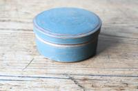 Swedish 'Folk Art' original blue painted wooden storage box / jar 19th Century (2 of 15)