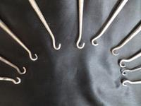 Ten Silver Handled Button Hooks. All Are Birmingham Assayed with the Anchor Mark. Dated from 1848/1899/1904/1910 Others with Rubbed Marks (6 of 6)