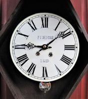 Wonderful 1880's French Striking Oval Vineyard Wall Clock by Japy Frères. (2 of 8)