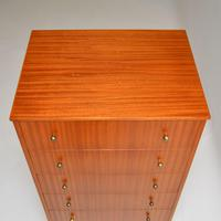 1960's Vintage Mahogany & Brass Tallboy Chest of Drawers (7 of 8)