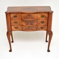 Antique Burr Walnut Lowboy Side Table (6 of 9)