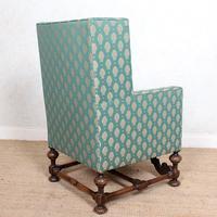 Lounge Chair Armchair Walnut Wingback Edwardian (2 of 12)