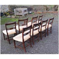 Fine Set of 8 Georgian Mahogany Dining Chairs (6 of 7)