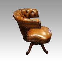 Victorian Leather Revolving Desk Chair (5 of 8)