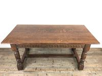 Early 20th Century Antique Oak Refectory Table (M-1739) (14 of 16)