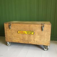 VINTAGE Industrial CHEST Coffee Table Mid Century Old Wooden TRUNK Retro Storage Box + Castors (11 of 12)